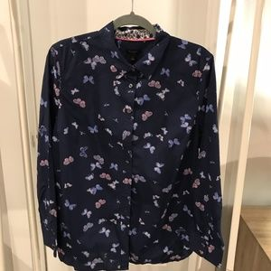 Talbots Sweet Butterfly Button-down